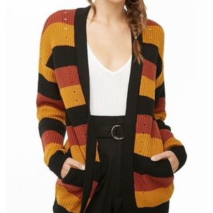 NEW Forever 21 striped cardigan/sweater